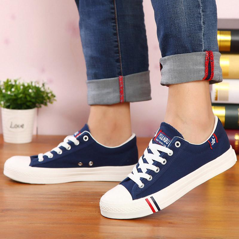 男孩帆布鞋大童休闲运动鞋中学生白板鞋12-13-14-15-16岁