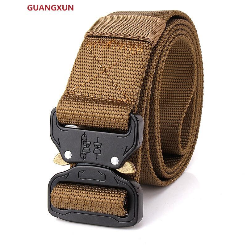 guangxun眼镜蛇扣战术腰带男青年帆布腰带布皮带布带自动扣多功能户外