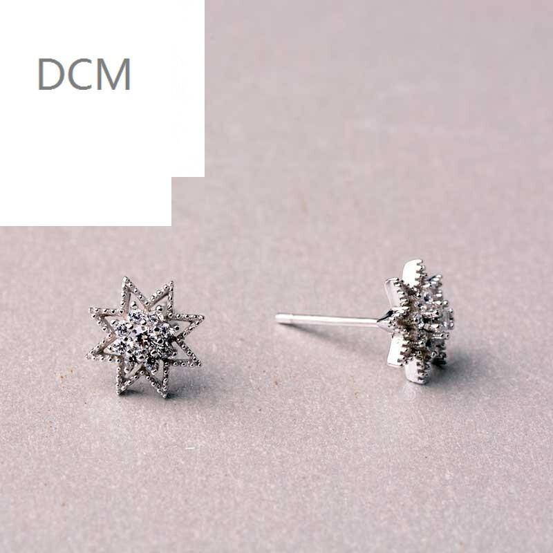 dcm925银饰耳饰 时尚百搭迷你可爱星星耳钉 韩版耳环饰品