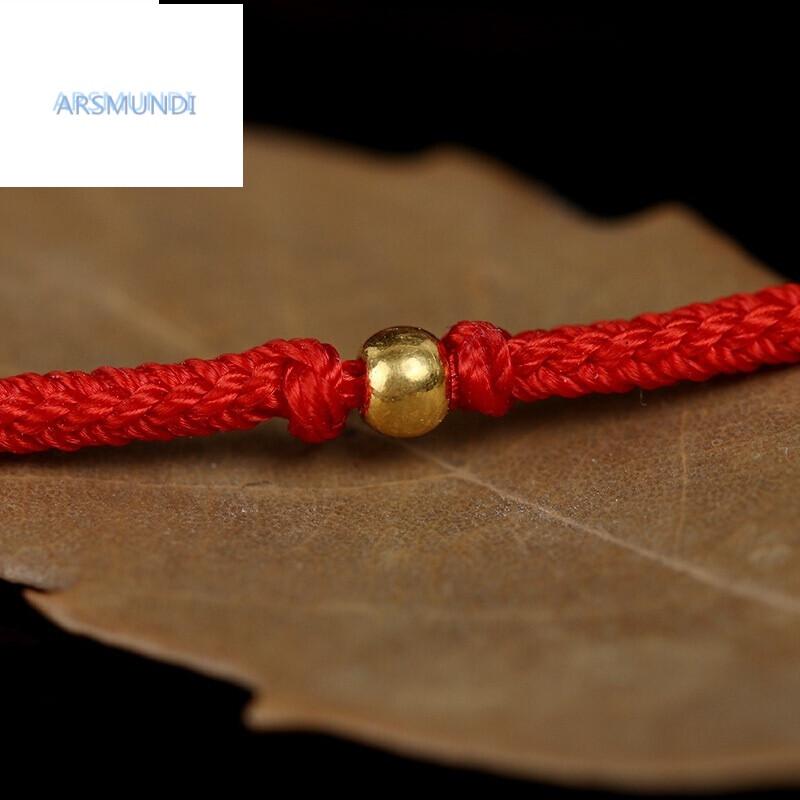 arsmundi鸡年本命年手工编织红绳手链化太岁手绳简约细金珠手环送女友