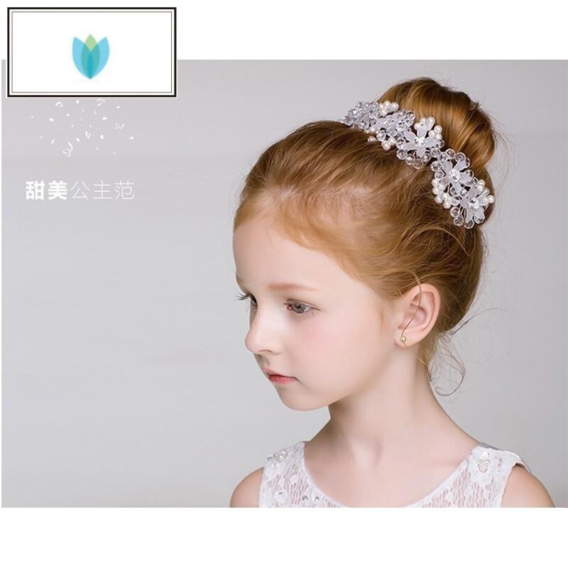 arsmundi女童头饰盘发器小公主配饰小孩儿童饰品花朵头箍发饰发箍韩国