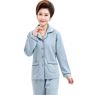 墨尔斯特(MO ER SI TE)2020春秋睡衣长袖青年少中年男士睡衣棉质双面家居服套装5625