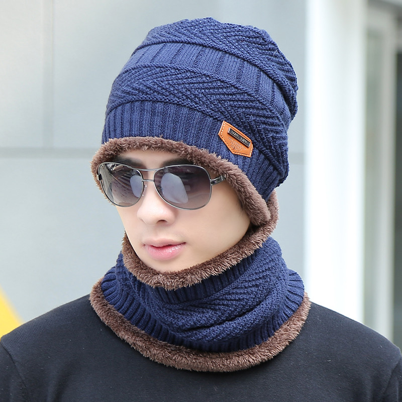 冬季韩版男士帽子潮时尚毛线帽保暖针织帽冬天防寒帽秋冬青年户外