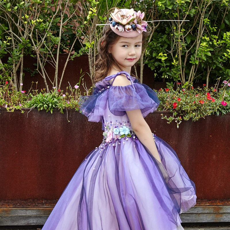 促销仙仙佳缘2016儿童礼服女童话公主裙走秀模特大赛拖尾晚礼服连衣裙