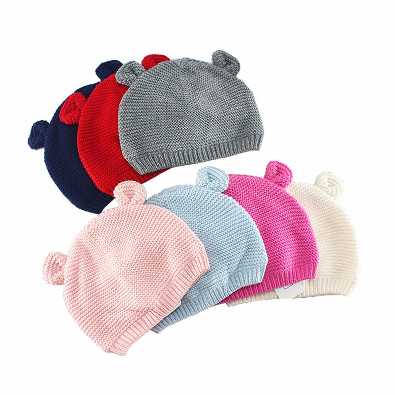 促销新女男童套头保暖秋冬婴儿毛线帽3个月2岁帽子宝宝儿童针织帽包邮