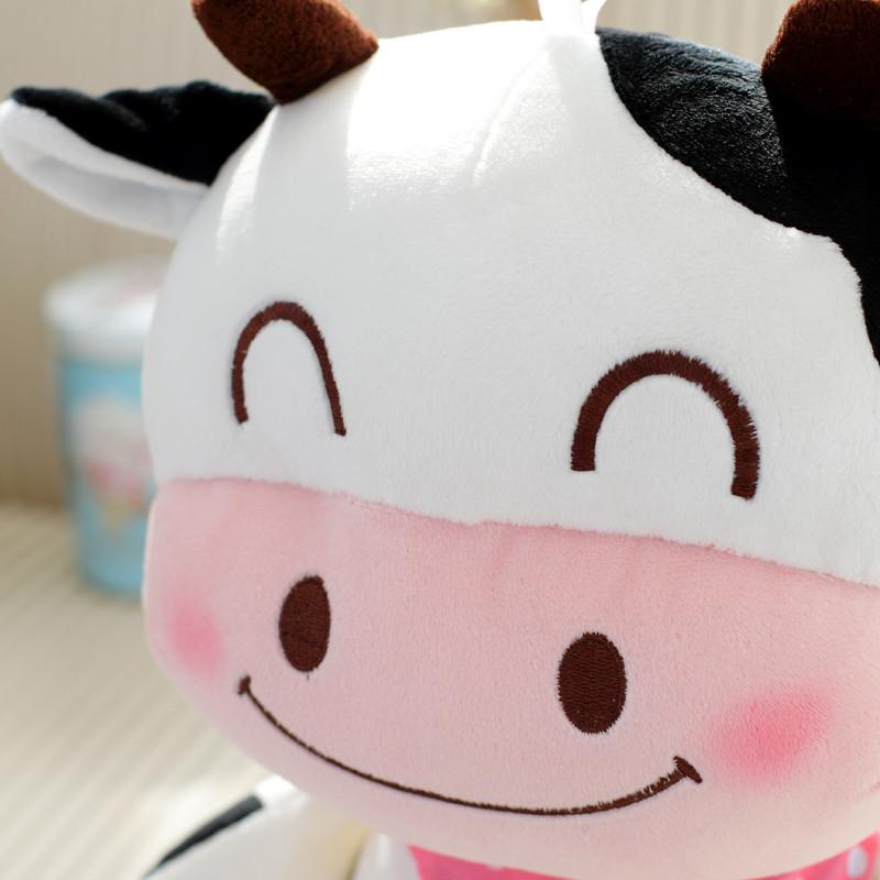 促销可爱动物奶牛抱枕毛绒玩具小鸡布娃娃儿童公仔生日礼物送女友男生