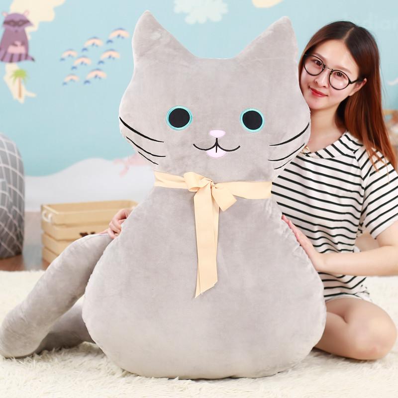 促销可爱猫咪抱枕靠垫睡觉长条抱枕枕头午休枕女友毛绒玩具布娃娃公仔