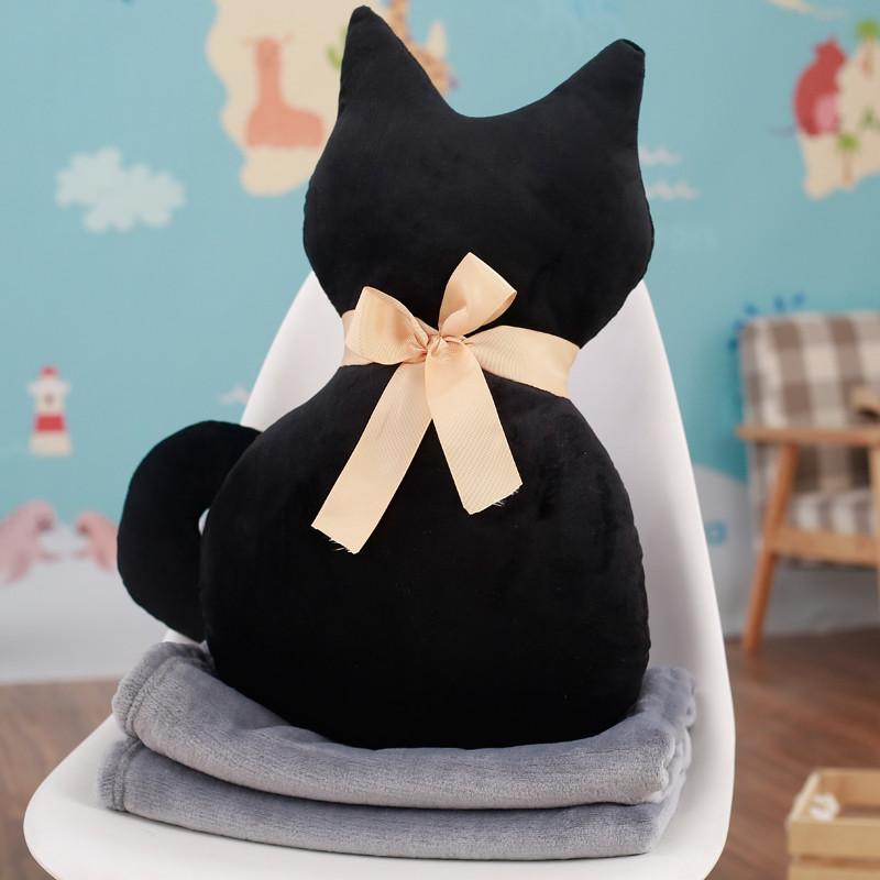 促销欢乐颂出现创意背影猫抱枕公仔小猫咪玩偶儿童布娃娃毛绒玩具生日