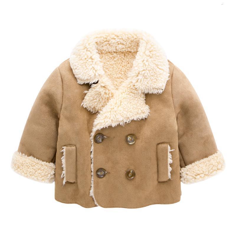 促销婴儿衣服加绒冬装新生儿上衣男童英伦风皮绒外套冬季宝宝加厚童装