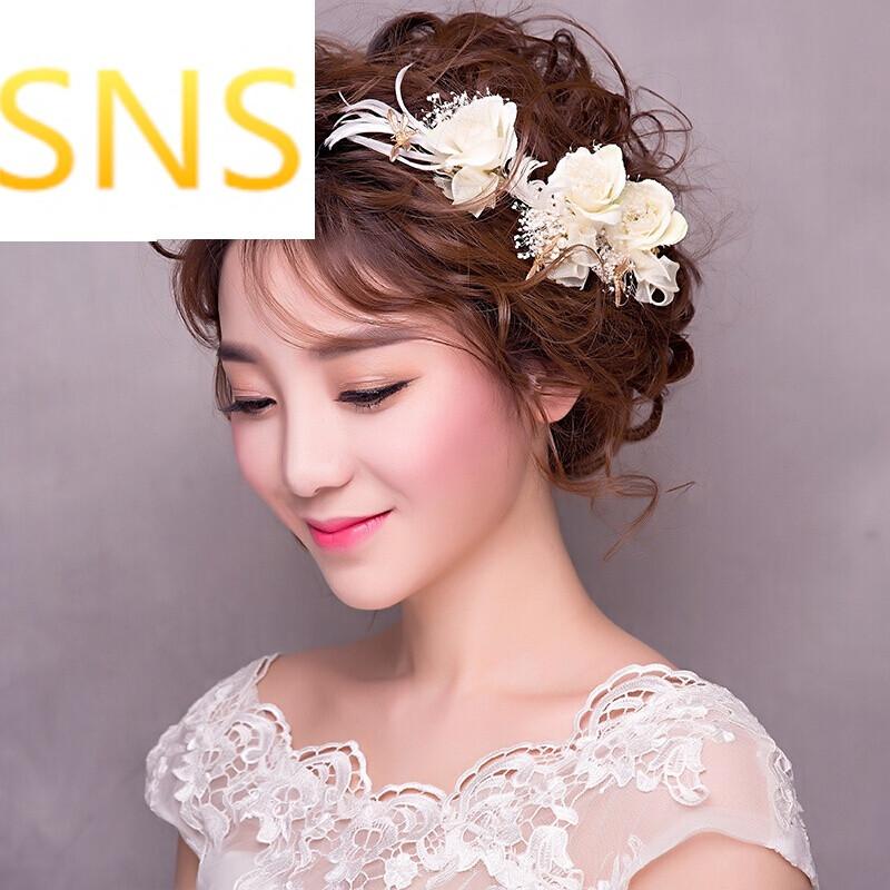 罗门韩式新娘头饰花仙子造型森系婚礼配饰度假婚纱照发饰图片图片
