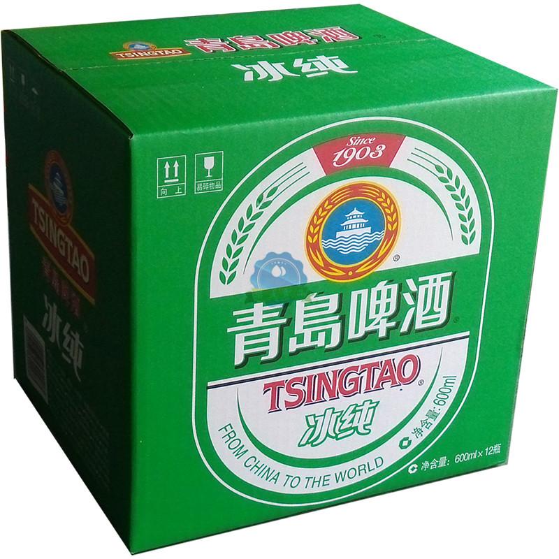 青岛啤酒 tsingtao 冰纯 冰醇啤酒600ml*12瓶/箱