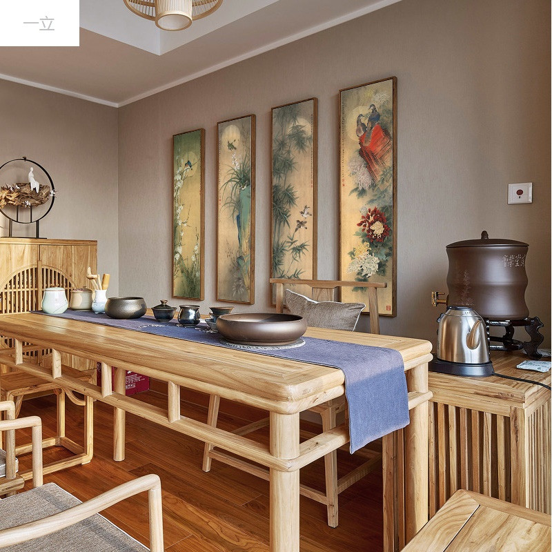 一立新款特价新中式客厅沙发后背景墙壁画四副卧室书房玄关轻奢装饰画图片