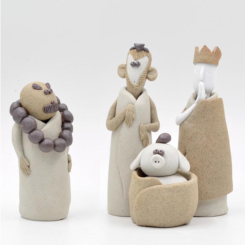 景德镇原创纯手工西游记摆件茶宠陶艺雕塑创意生日礼物办公室摆设西游图片
