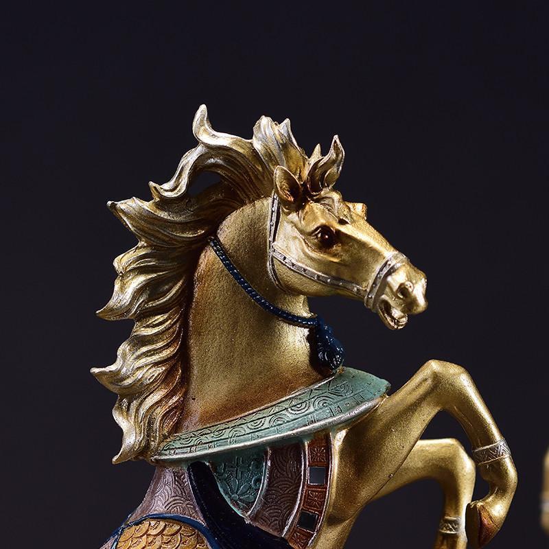 马摆件工艺品办公室风水招财家居欧式客厅玄关样板间酒柜装饰品