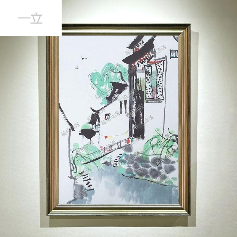 现代简约手绘立体抽象装饰油画客厅背景画餐厅厨房乡情挂画