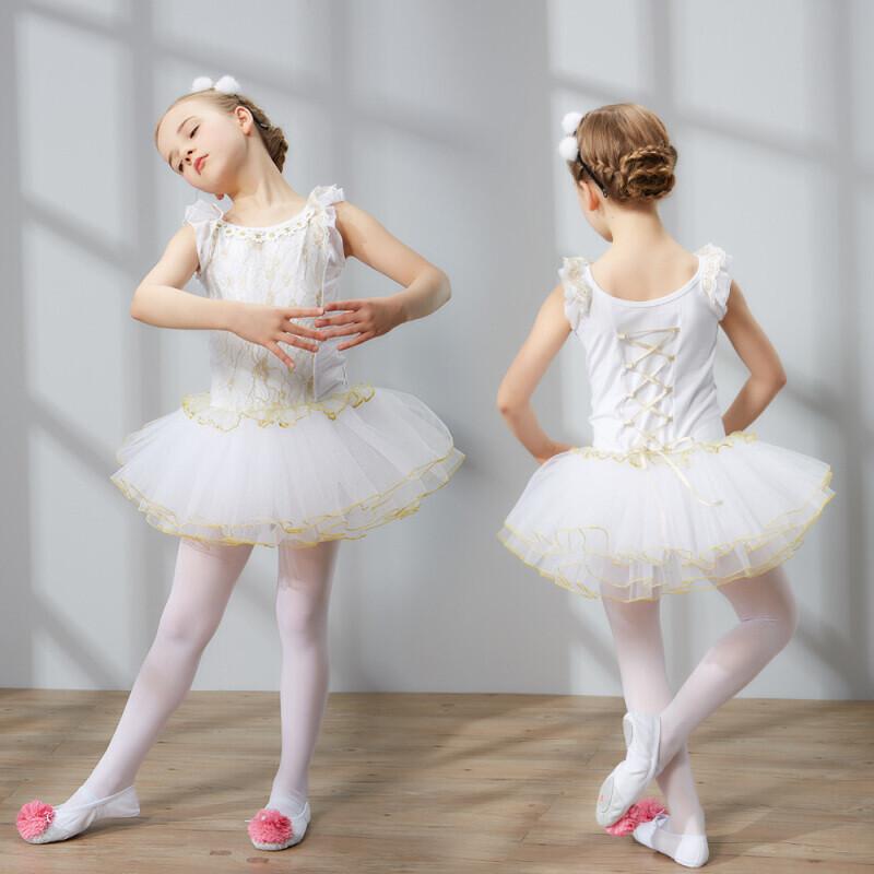 户外蕾丝舞蹈服装女童芭蕾舞裙儿童考级服练功服少儿演出服礼服