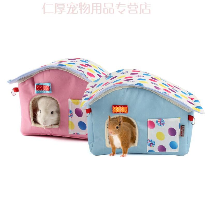宠物过冬天然玩具豚鼠仓鼠保暖悬挂加厚用品小屋除臭窝窝冬季保暖房子