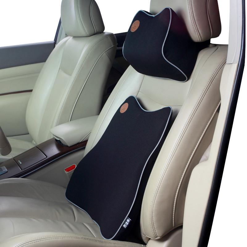 汽车内车载车用记忆棉座椅腰靠背靠腰垫靠垫开车护腰腰托颈枕腰枕