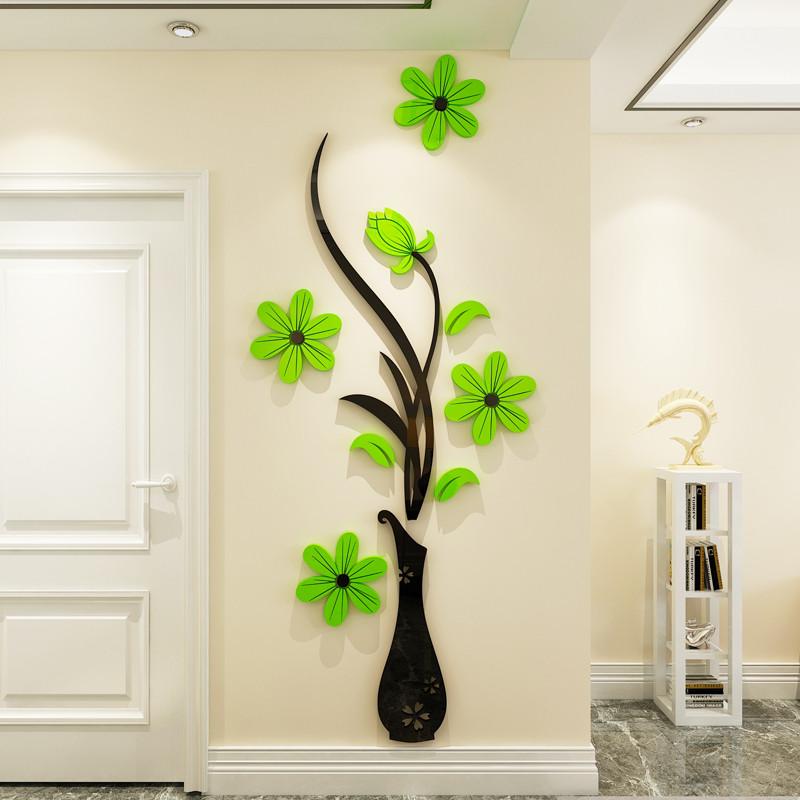 亚克力3d立体墙贴客厅玄关电视沙发背景墙面上装饰品壁纸贴画自粘