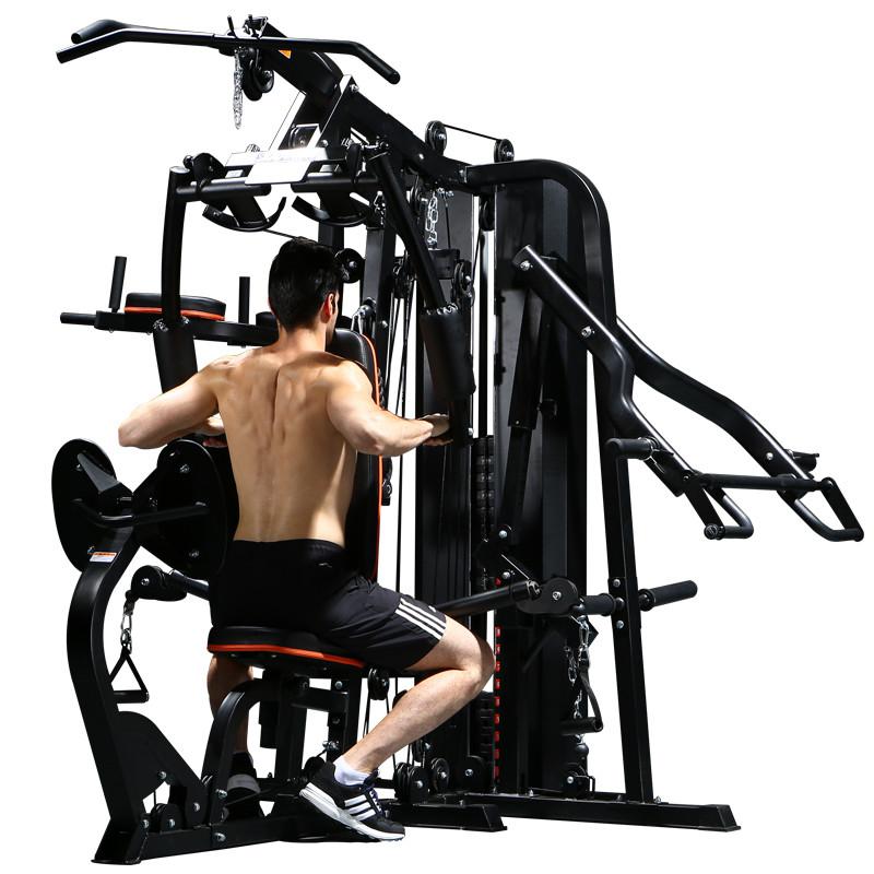 家用健身器材_大型多功能健身器材家用组合运动器械三人站力量综合训练器