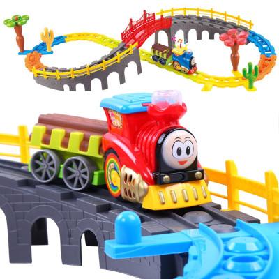 貝恩施beiens積木小火車套裝 軌道車玩具男孩電動火車兒童玩具2-4歲 3-6歲1688 不含遙控器 充電否