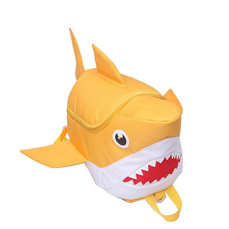 q版幼儿园大班儿童小朋友书包宝宝可爱卡通鲨鱼男女孩
