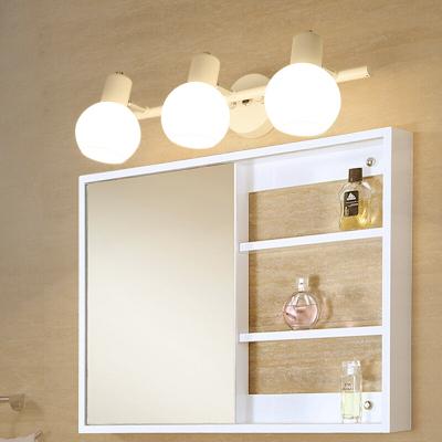 都市诱惑美式镜前灯LED卫生间浴室梳妆台柜镜柜灯欧式简约卧室北欧灯具象牙白4头65cm配5WLED灯