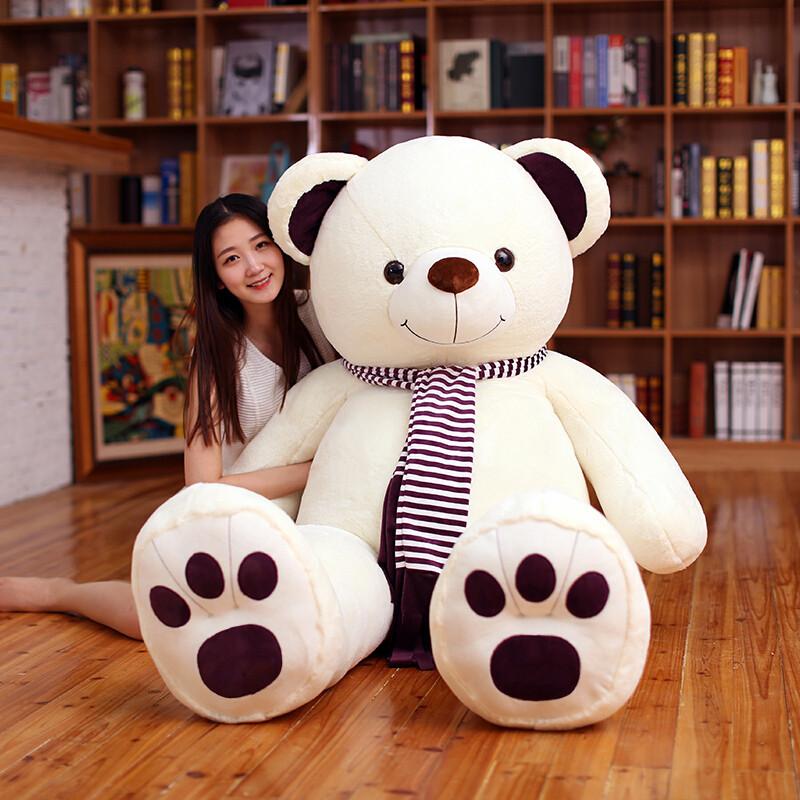 生日抱抱熊公仔1.8米泰迪熊毛绒玩具2米大熊女友送惊魂娃娃礼物大号西瓜娃娃图片