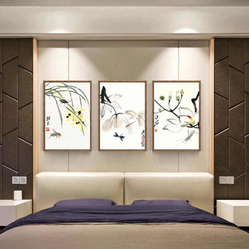 齐白石新中式客厅装饰画沙发背景墙餐厅书房茶室酒店水墨禅意挂画