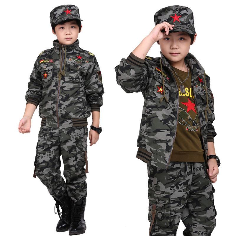 迷彩服套装男童