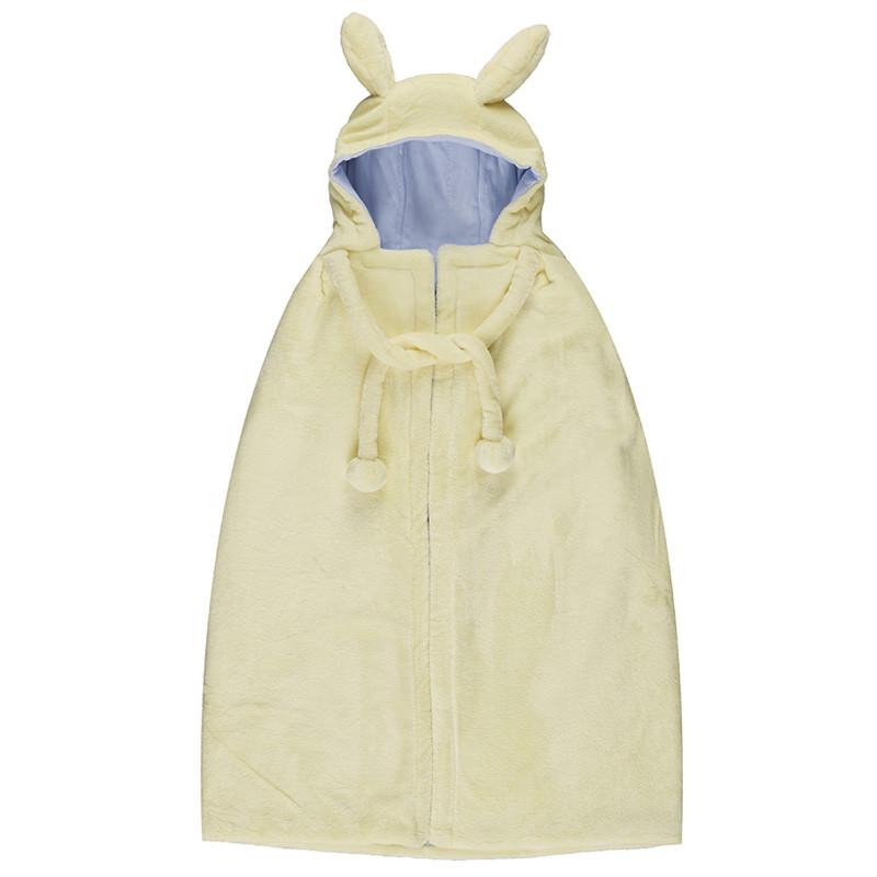 婴儿披风斗篷秋冬外出加厚保暖防风法兰绒男女宝宝外套披肩