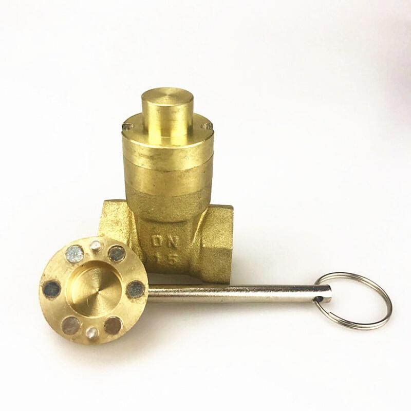 暖气阀门钥匙十字磁性锁阀开关供暖地暖自来水管道水表前磁力一字图片