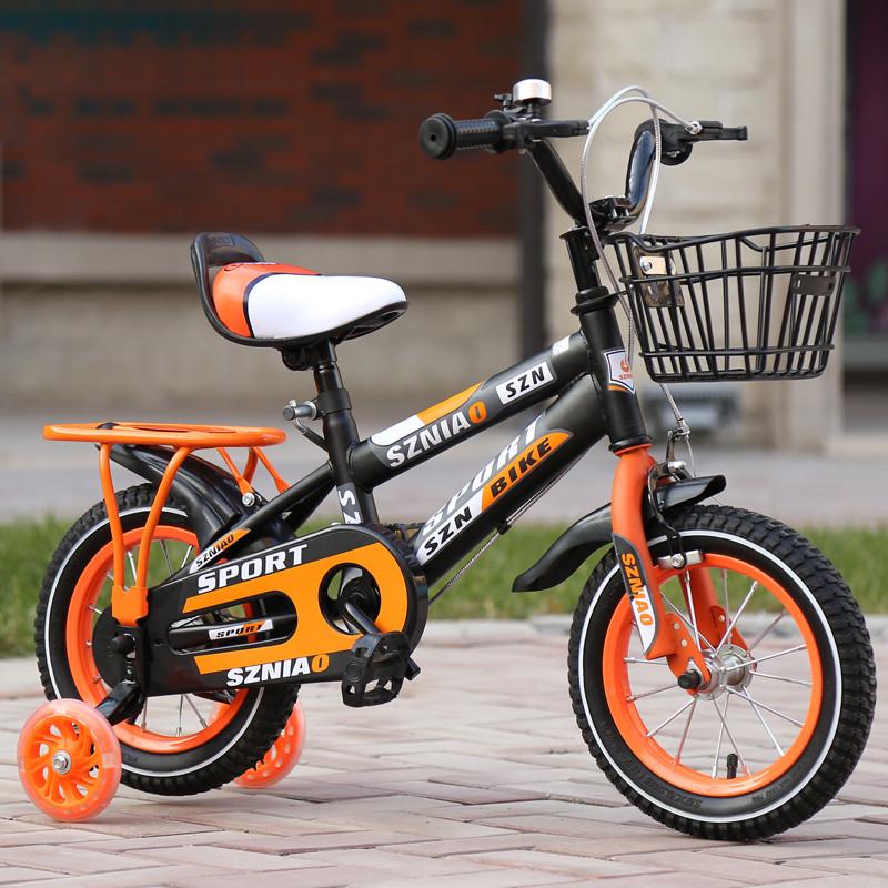 儿童自行车3岁宝宝脚踏车2-4-6岁童车带后座男女孩玩具车单车