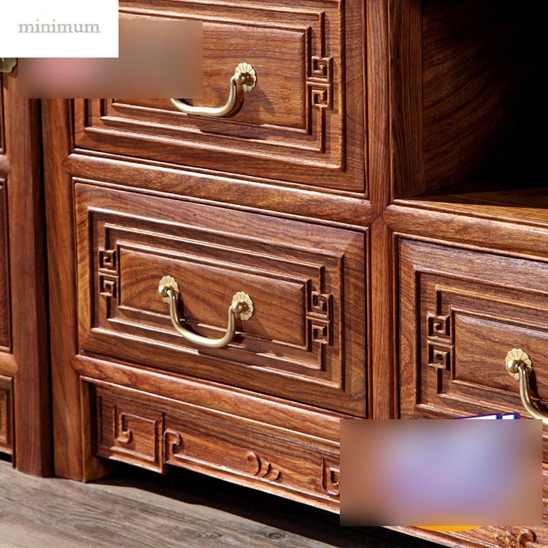 古典实木家具非洲黄花梨刺猬紫檀新中式电视柜酒柜地柜组合