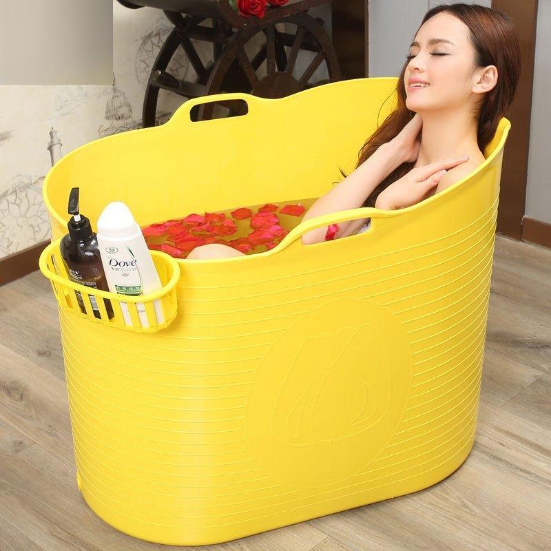 加大号成人洗澡桶家用塑料泡澡桶浴缸宝宝儿童游泳沐浴桶自带排水口多