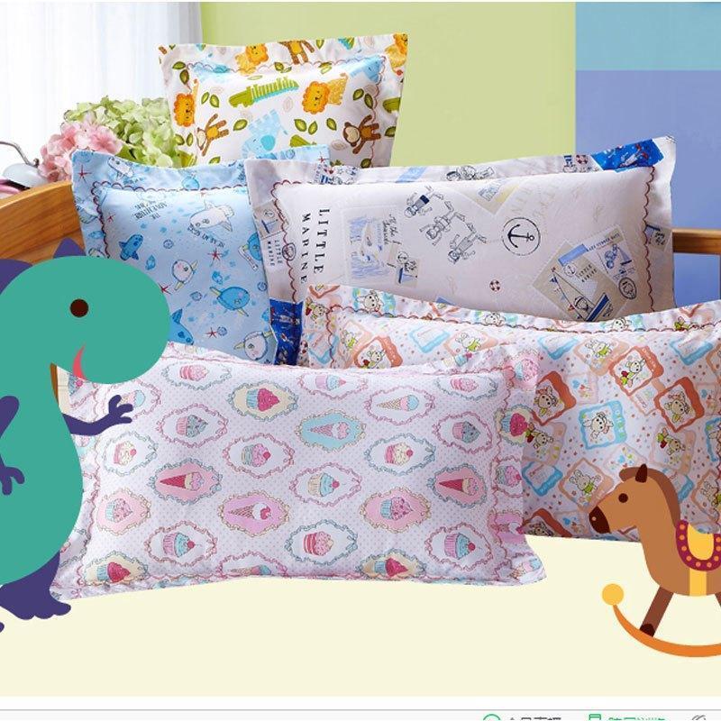 可爱卡通儿童枕芯送枕套 单人软枕3-12岁宝宝幼儿园小学生枕头棉质