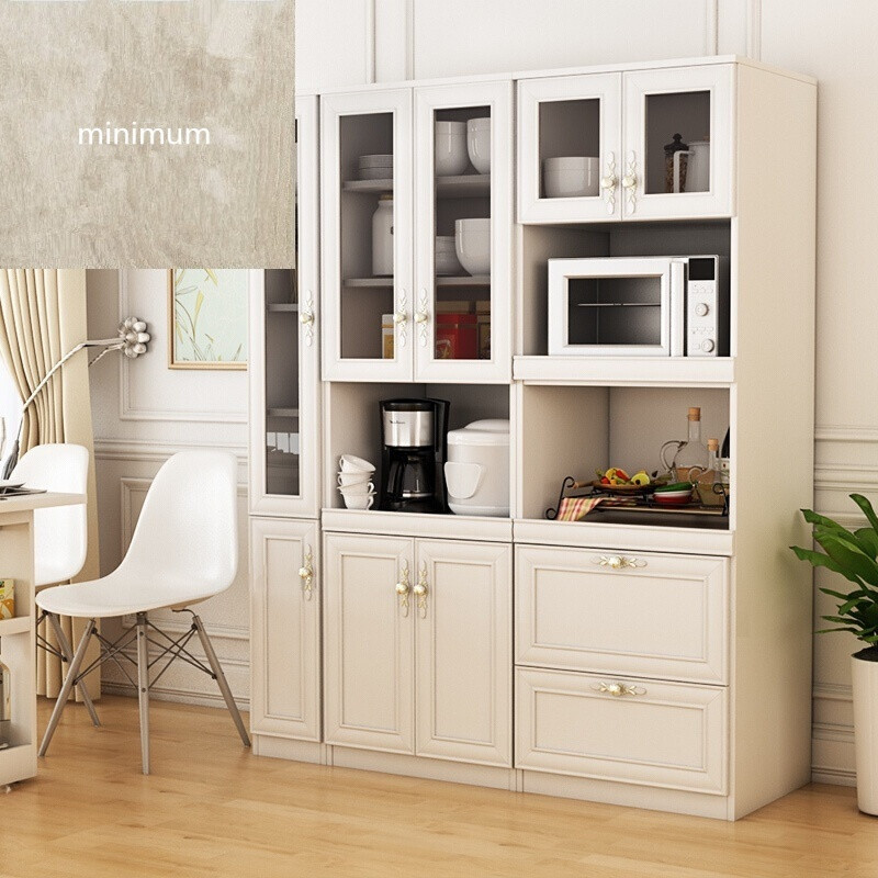 餐邊柜現代簡約餐廳微波爐柜高餐邊柜組合廚房碗柜收納儲物柜