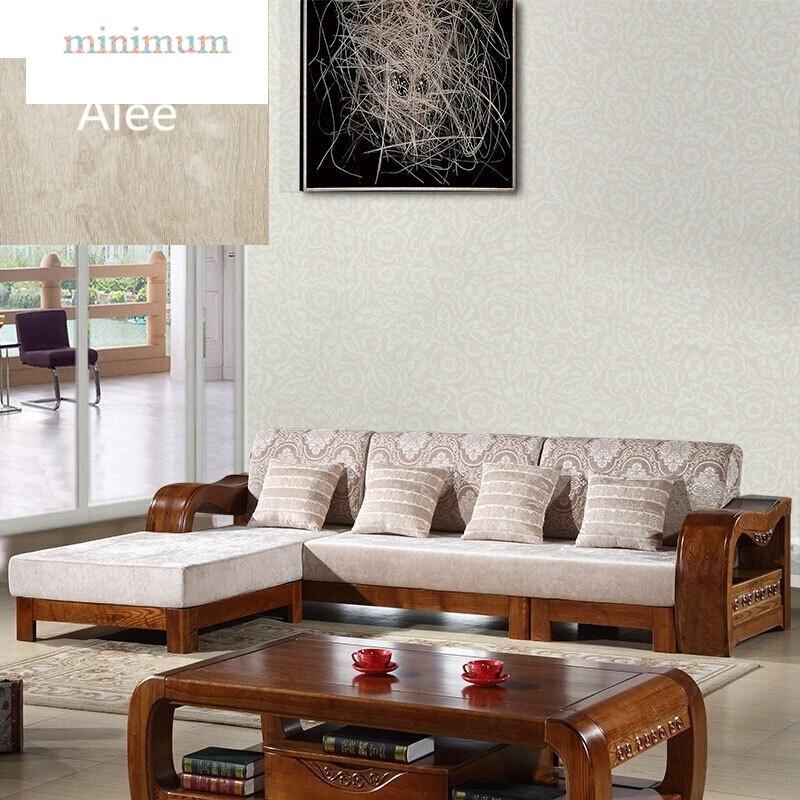全实木沙发现代新中式客厅家具榆木贵妃转角沙发简约组合沙发五人位图片