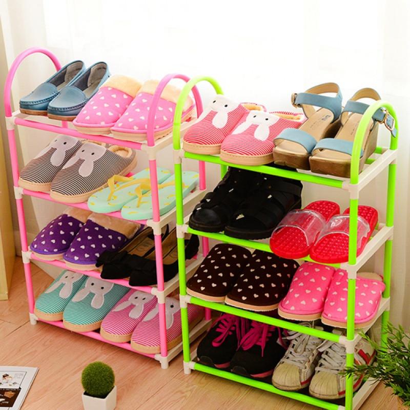 儿童鞋架多层小简易鞋柜卡通可爱家用小型宝宝鞋架迷你小号宿舍窄