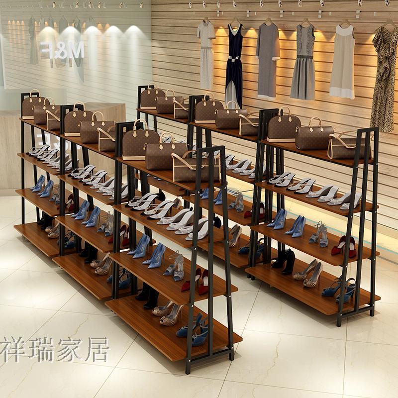 中岛柜服装鞋店带灯货架化妆品母婴奶粉展示柜商场超市组合展示架