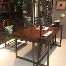 中式仿古实木书桌图片图片