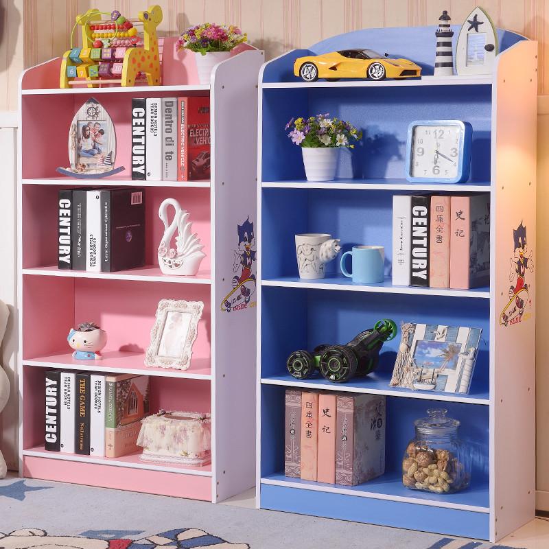 特价儿童书柜书架宜家简易多功能学生带门书柜书橱储物收纳柜子图片