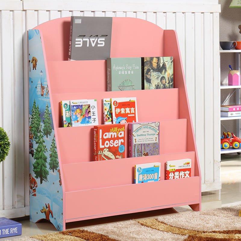 新品儿童书架书柜宝宝简易书报架幼儿园图书绘本架展示架书橱包邮