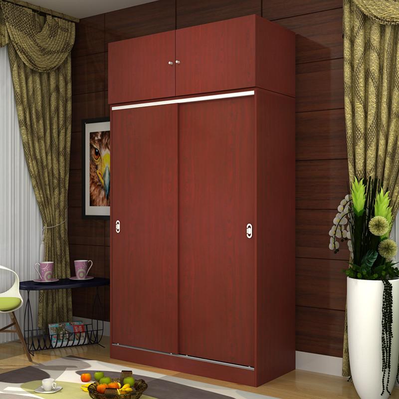 衣柜推拉门木质定制整体组合卧室谊家移门简约现代经济型包邮