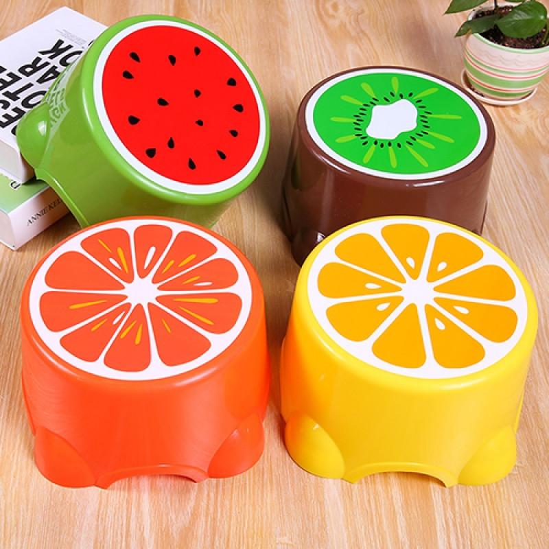 水果小凳子儿童凳可爱塑料凳圆凳宝宝卡通脚凳矮凳加厚板凳