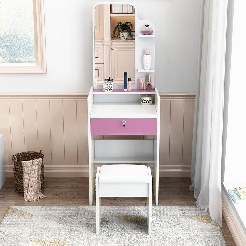 梳妝臺經濟型 迷你小戶型簡約現代臥室化妝桌 簡易多功能收納柜子