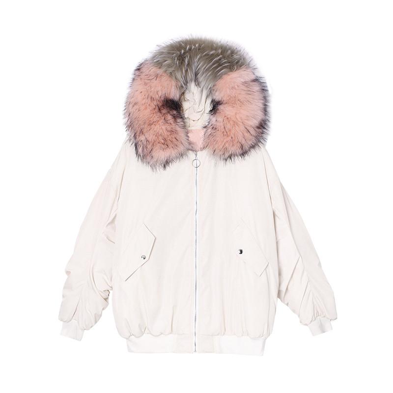优惠促销【前300名279元】冬季可爱外套 宽松大毛领软妹棉服女冬