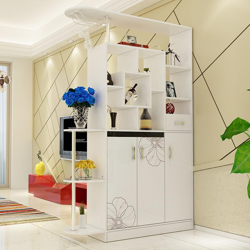 簡約現代酒柜門廳柜玄關柜客廳隔斷柜雙面仿烤漆鞋柜屏風大容量