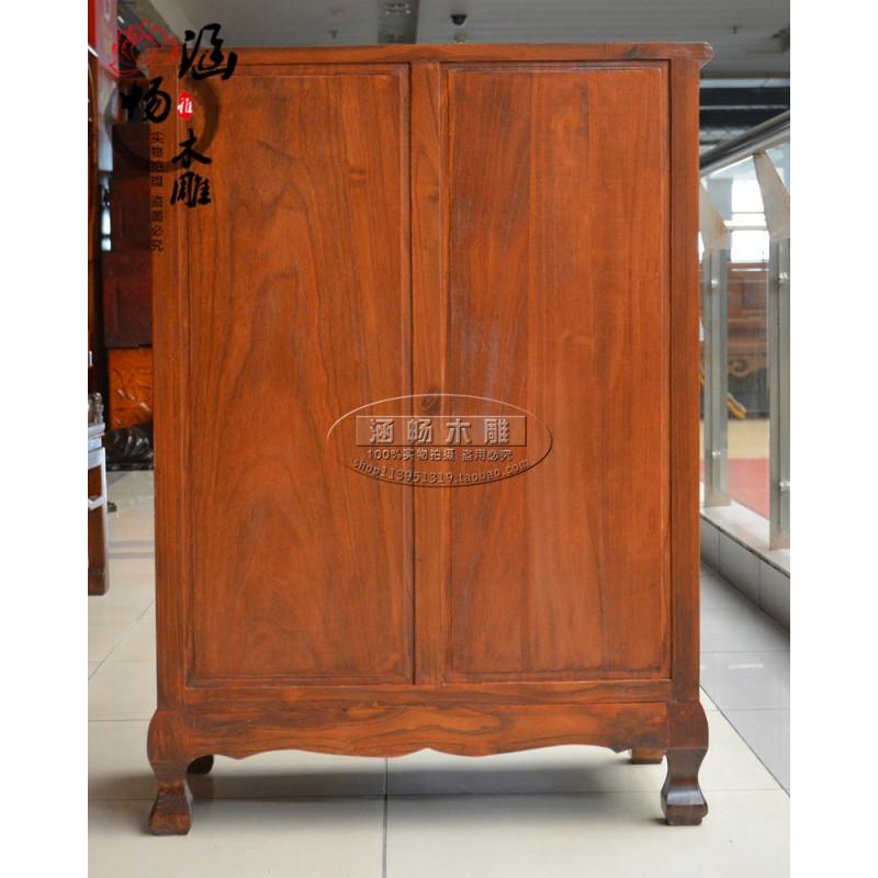 东阳木雕现代中式仿古五斗橱储物柜子抽屉收纳柜全实木五斗柜包邮