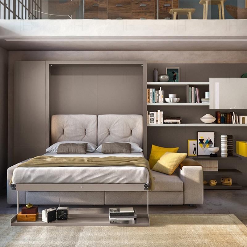隐形床壁床多功能折叠小户型客厅创意空间收纳五金配件电动衣柜床